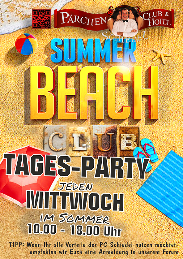 WEB  O  SUMMER BEACH CLUB   TAGES PARTY Jeden Mittwoch im SOMMER
